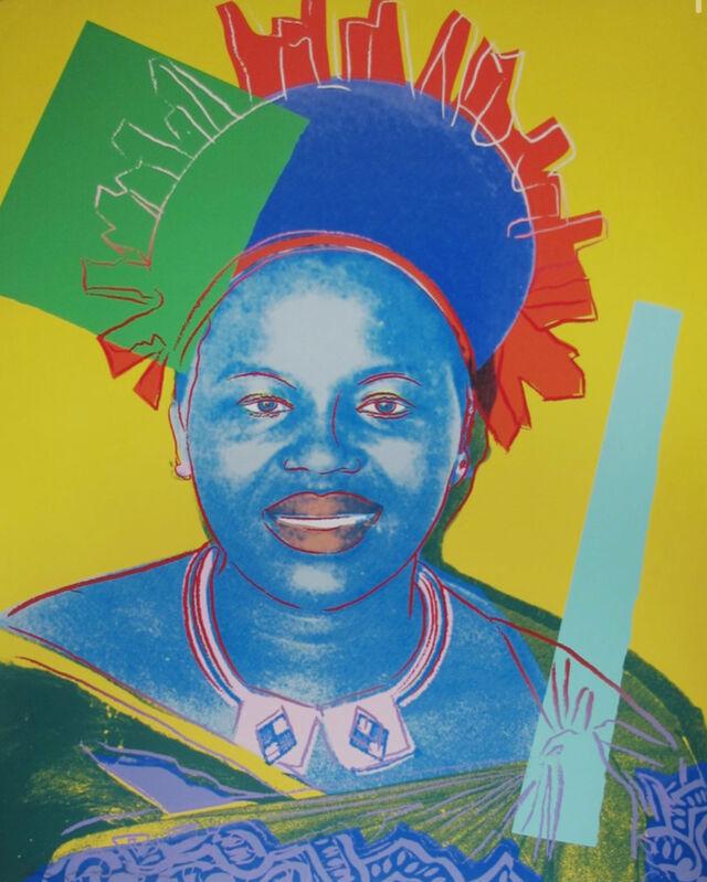 Andy Warhol, 'Queen Ntombi Twala from Swaziland', 1985, Print, Screenprint on Lenox Museum Board, Okker Art Gallery