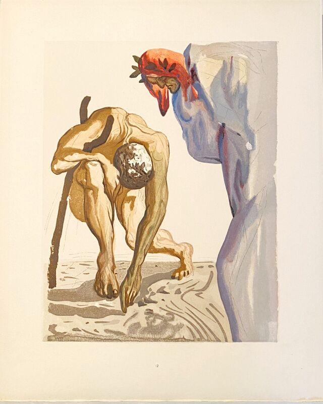Salvador Dalí, 'La Divine Comédie - Purgatoire 07 - Les Princes de la vallée', 1963, Print, Original wood engraving on BFK Rives paper, Samhart Gallery