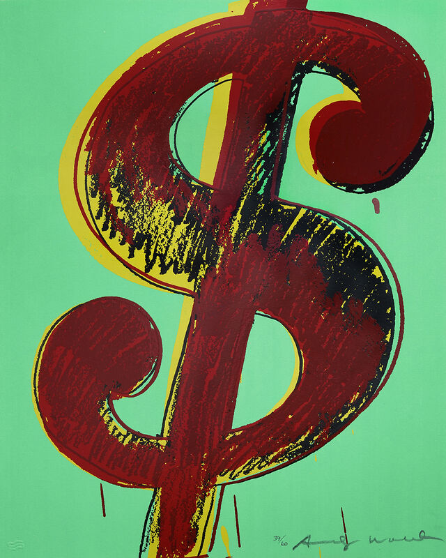 """Andy Warhol, 'Complete set of 6 """"Dollar Signs"""" 1981', 1981, Print, Screen Print, Lyons Gallery"""