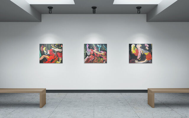 The Burning Roof, installation view