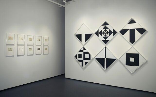 Ward Jackson: Black & White Diamonds 1960s, installation view
