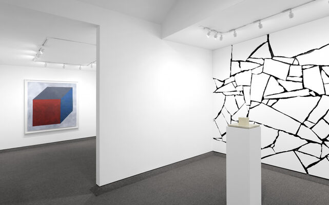 SOL LEWITT: Forms Derived from a Cube in Two and Three Dimensions, and One Wall Work, installation view
