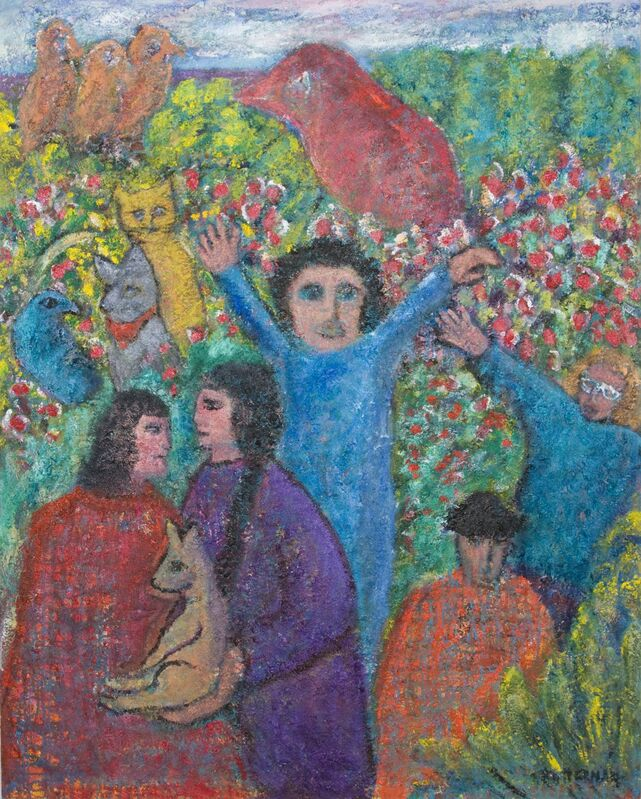 Florence Putterman, 'Family Gathering', 2010, Painting, Oil on Canvas, Walter Wickiser Gallery