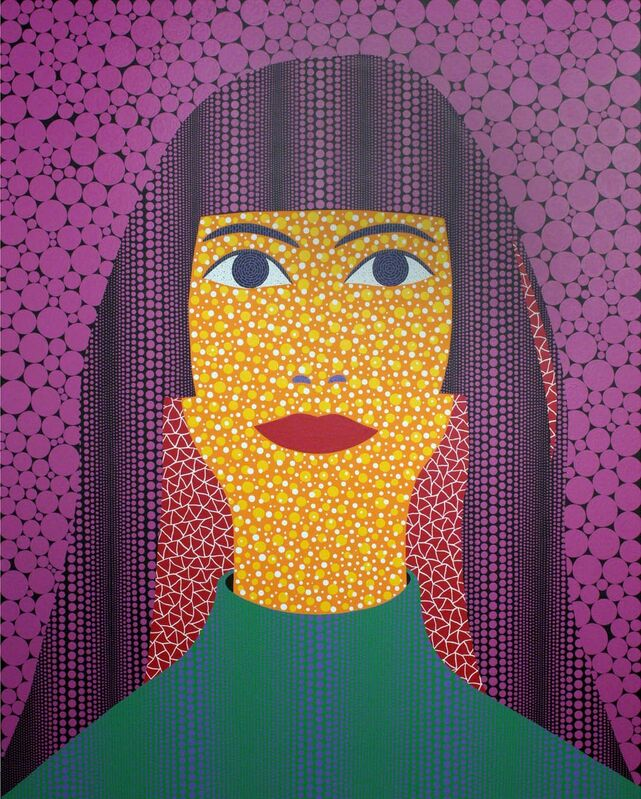 Yayoi Kusama, 'Self Portrait (TWAY)', 2010, Painting, Acrylic on canvas, Gagosian