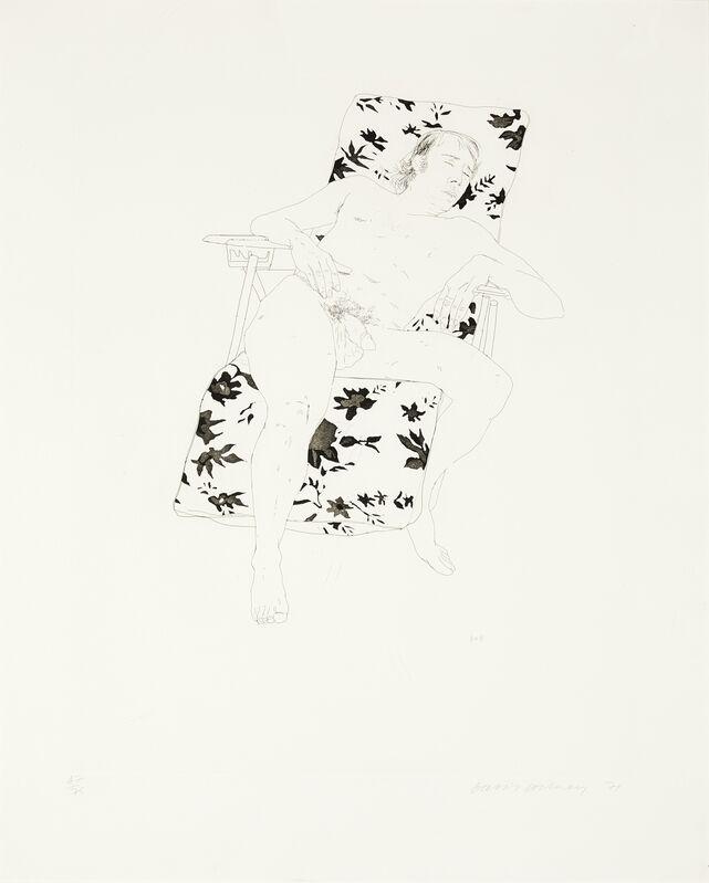 David Hockney, 'Mo Asleep (Tokyo 116)', 1971, Print, Etching with aquatint, Forum Auctions