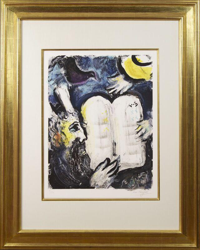 Marc Chagall, 'Moïse et les tables de la loi', 1962, Print, Color lithograph on Arches wove paper, Galerie Michael