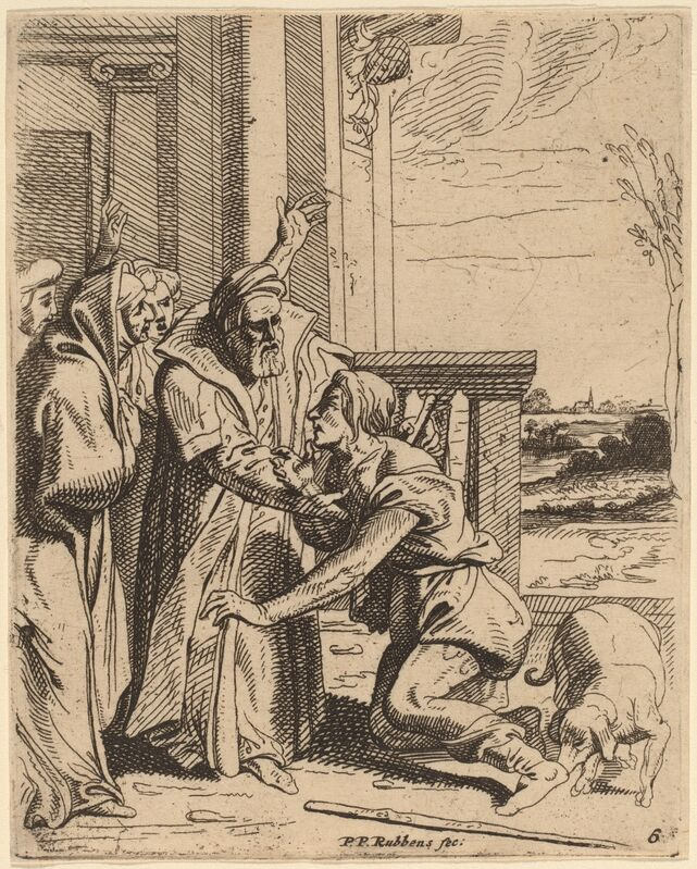 Theodoor van Thulden after Sir Peter Paul Rubens, 'The Prodigal Son Received by His Father', Print, Etching, National Gallery of Art, Washington, D.C.