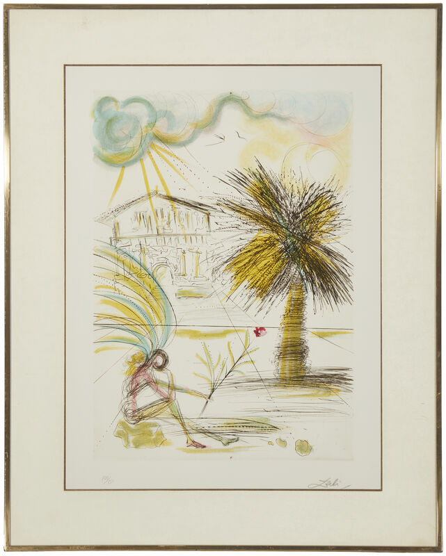 Salvador Dalí, 'San Francisco Suite, ''Chinatown'', ''City Hall'', ''Golden Gate Bridge'', ''Mission Dolores'' and ''Telegraph Hill'' (five works)', 1970, Print, Each: Etching and drypoint with color lithography on BFK Rives paper under glass, John Moran Auctioneers