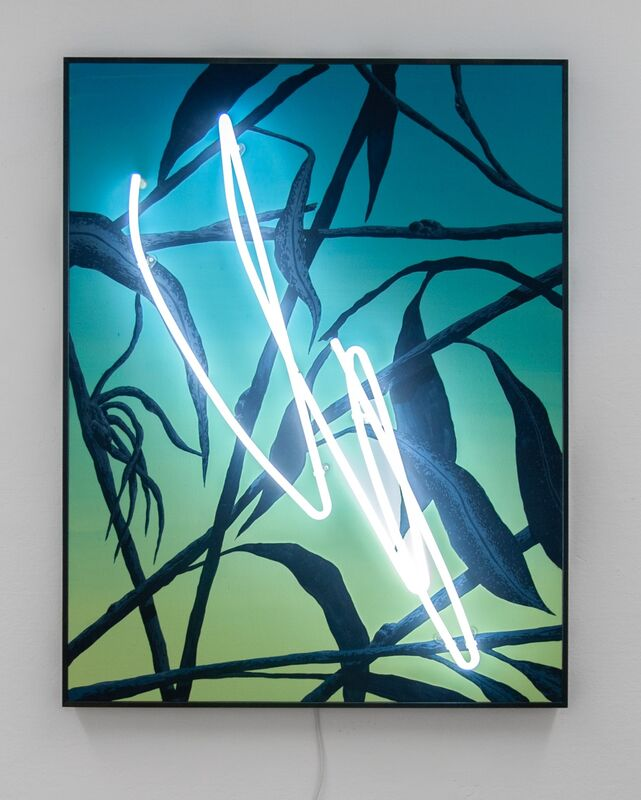 Tellas, 'In-between', 2019, Painting, Acrylic on board and neon light, MAGMA gallery