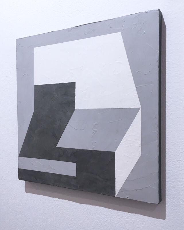 Kati Vilim, 'Balancing III', 2019, Painting, Plaster and acrylic on wood panel, Deep Space Gallery