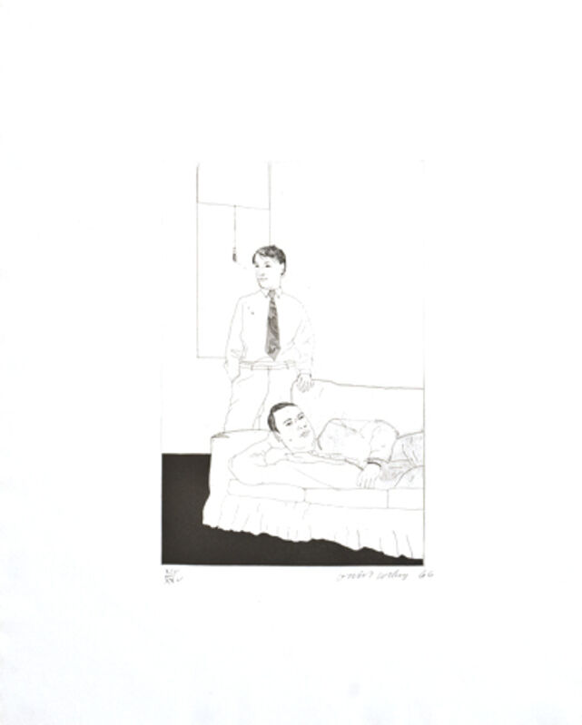 David Hockney, 'Beautiful and White Flowers', 1966, Print, Etching in black, Collectors Contemporary