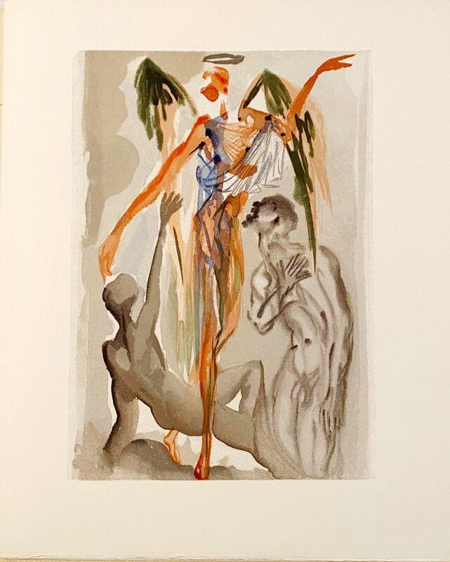 Salvador Dalí, 'La Divine Comédie - Purgatoire 32 - Le Paradis terrestre', 1963, Print, Original wood engraving on BFK Rives paper, Samhart Gallery