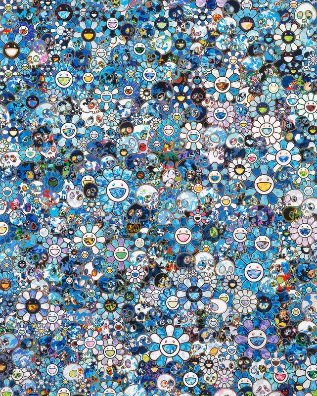 Takashi Murakami, 'Zero one', 2020, Print, Offset print with silver, Pinto Gallery