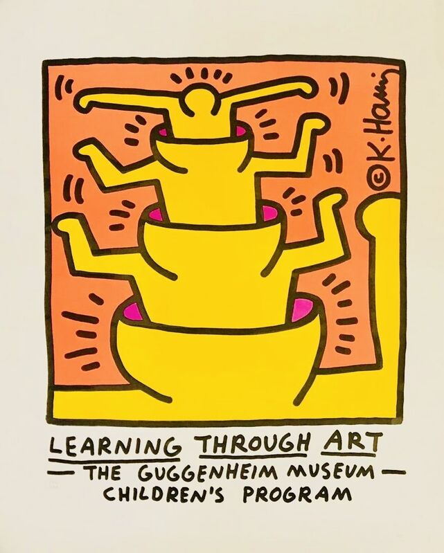 Keith Haring, 'Keith Haring Learning Through Art poster ', 1990, Posters, Offset lithograph, Lot 180