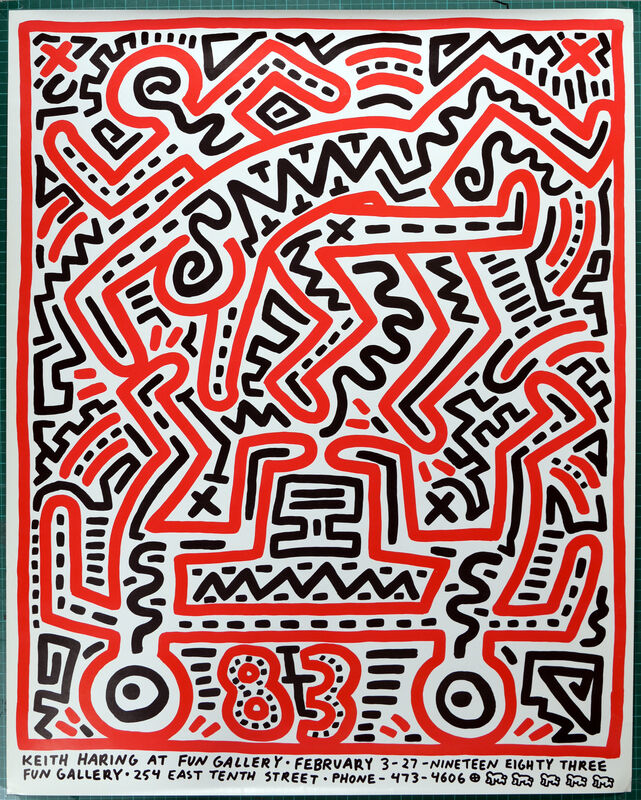 Keith Haring, 'Keith Haring at Fun Gallery', 1983, Print, Silkscreen on paper, NCAG