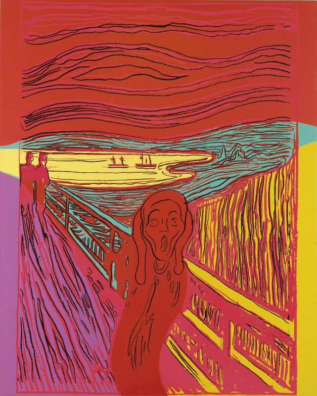 Andy Warhol, 'The Scream (After Munch)', 1984, Print, Unique screenprint in colors, on Lenox Museum Board, Christie's