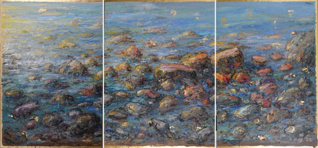 Bruno Zupan, 'Triptych: Rocks and Sea', 2018