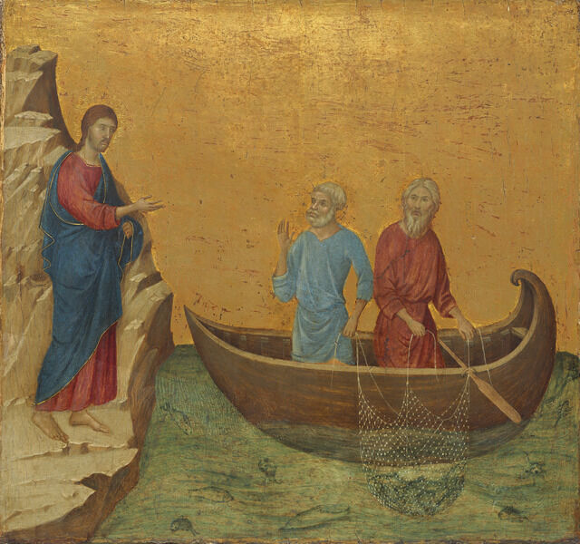 Duccio, 'The Calling of the Apostles Peter and Andrew', 1308/1311