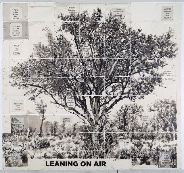 William Kentridge, 'Untitled (Leaning on Air)', 2020