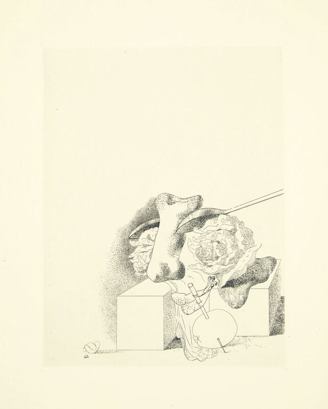 Salvador Dalí, 'Les Chants de Maldoror, one plate', 1934, Print, Etching and drypoint, on Arches paper, Christie's