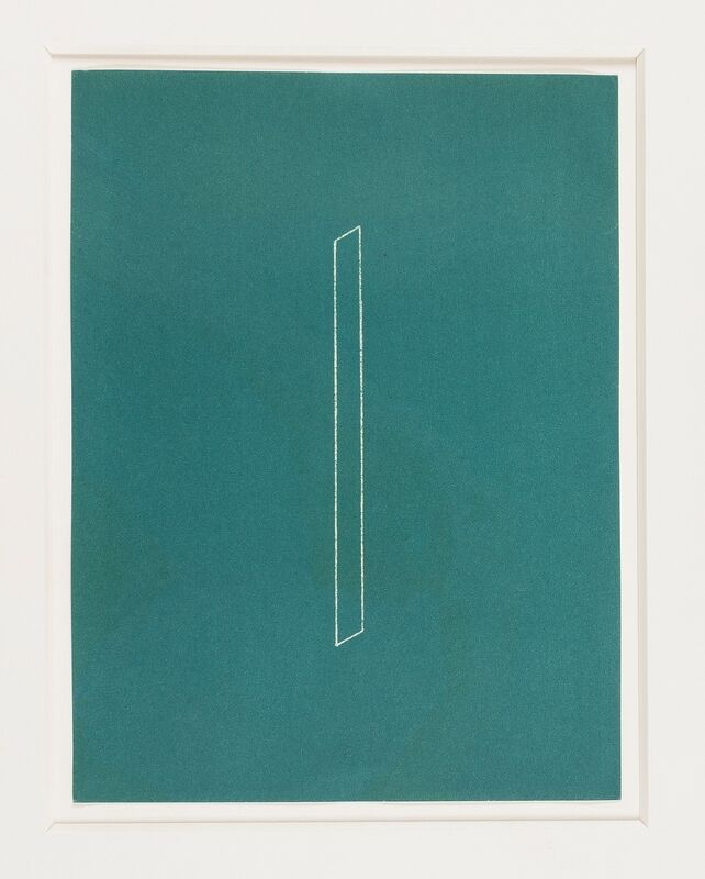 Fred Sandback, 'Untitled from Twenty-two constructions from 1967 (Jahn 128)', 1986, Print, Two lithographs one printed in green the other black, Forum Auctions
