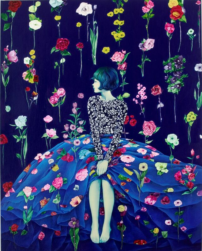 Eunhee Lim, 'Bad Flower Garden', 2015, Drawing, Collage or other Work on Paper, Mixed media on Korean paper, Sinmi Gallery