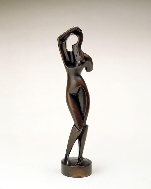 Alexander Archipenko, 'Woman Combing Her Hair (Femme debout)', 1914, Sculpture, Bronze, Nasher Sculpture Center