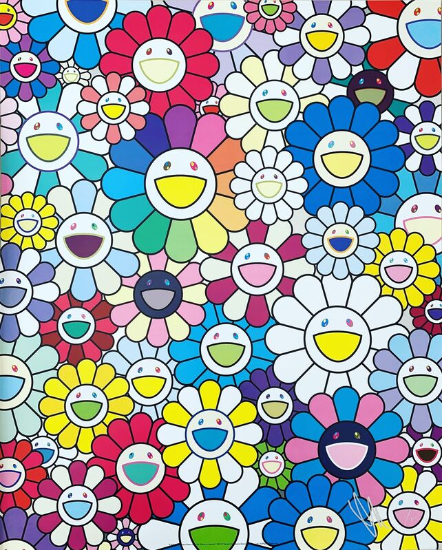 Takashi Murakami, 'A Field of Flowers Seen from the Stairs to Heaven', 2018, Print, Offset lithograph in colours, Lougher Contemporary