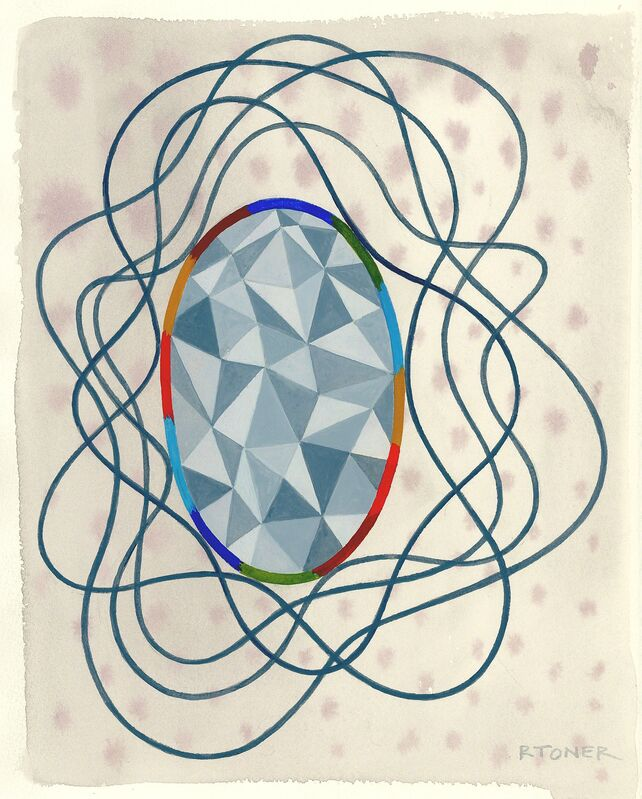 Rochelle Toner, 'Port', 2014, Drawing, Collage or other Work on Paper, Watercolor on arches cover, Fleisher/Ollman