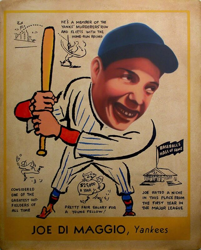 George Mead, '1938 Goudey - Joe Di Maggio', 2017, Painting, Acrylic on PVC with Acrylic Case, Axiom Contemporary
