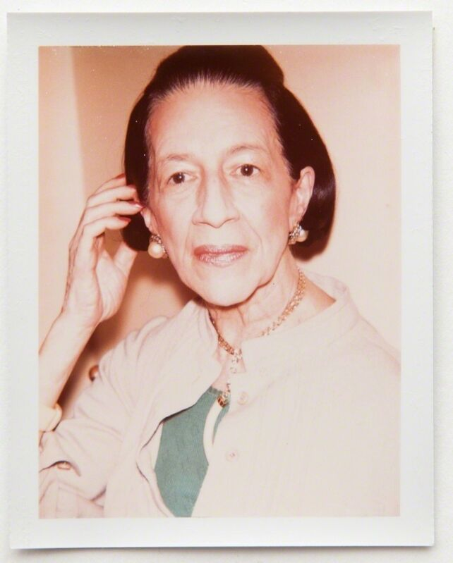 Andy Warhol, 'Andy Warhol, Polaroid Portrait of Diana Vreeland, 1973', 1973, Photography, Polaroid, Hedges Projects