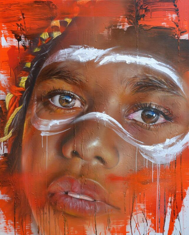 Adnate, 'Time For Us', 2015, Painting, Spray paint and acrylic on linen, Nanda\Hobbs
