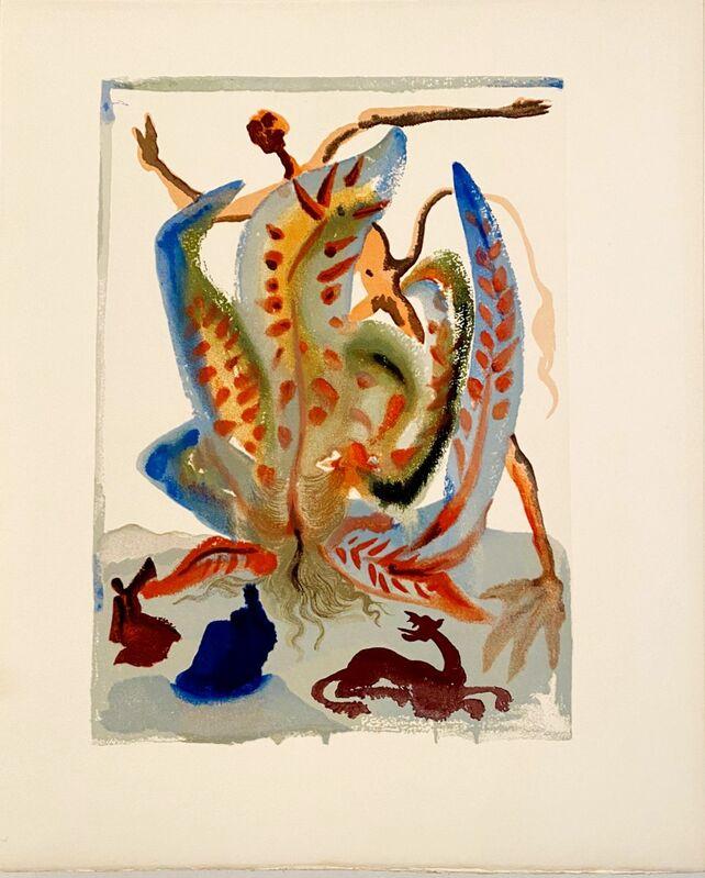 Salvador Dalí, 'La Divine Comédie - Purgatoire 23 - La Gourmandise', 1963, Print, Original wood engraving on BFK Rives paper, Samhart Gallery