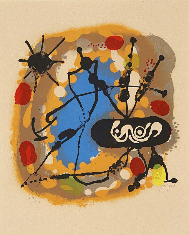 Joan Miró, 'Atmósfera Miró', 1959, Print, Colour lithograph on vellum, Van Ham