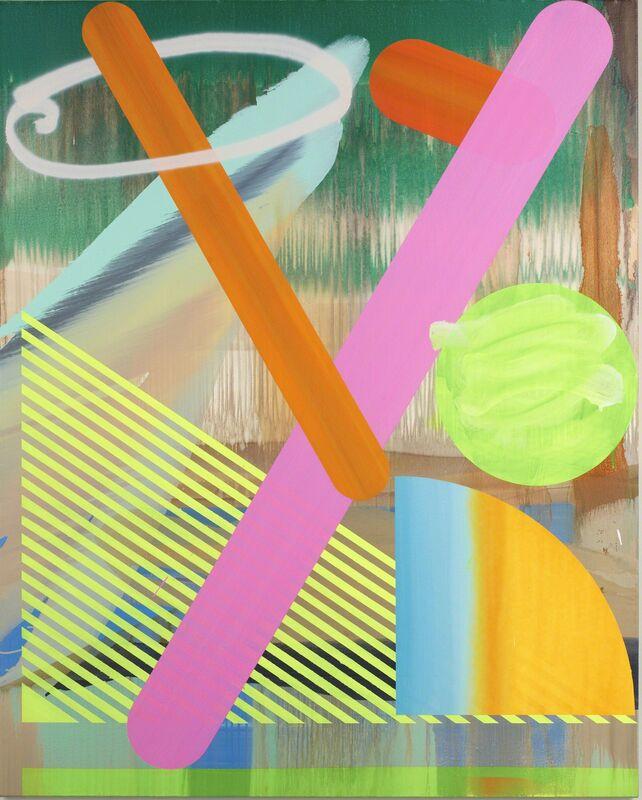 Satoshi Ohno, 'Tropical Straw', 2013, Painting, Oil, spray on canvas mounted on panel, Tomio Koyama Gallery