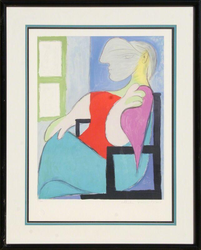 Pablo Picasso, 'Femme Assise Pres d'Une Fenetre, 5-D', 1979-1982, Print, Lithograph on Arches, RoGallery