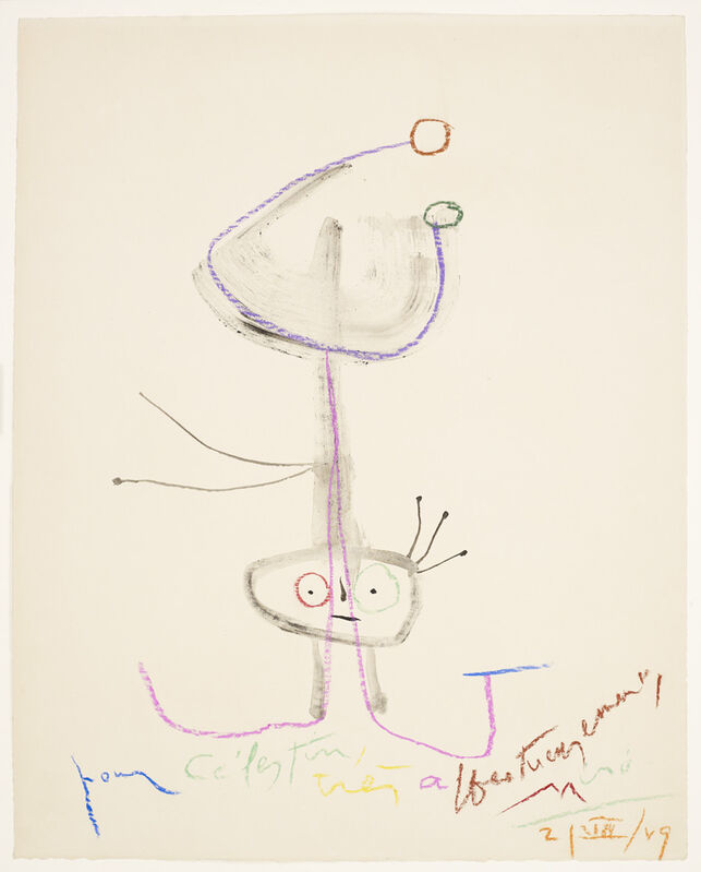 Joan Miró, 'UNTITLED PERSONNAGE', 1959, Drawing, Collage or other Work on Paper, Galerie Maximillian