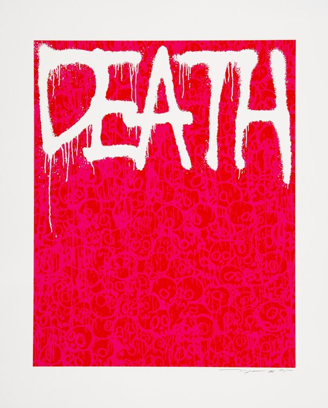 Takashi Murakami, 'Death (Red)', 2018, Print, Silkscreen in colors on paper, Heritage Auctions