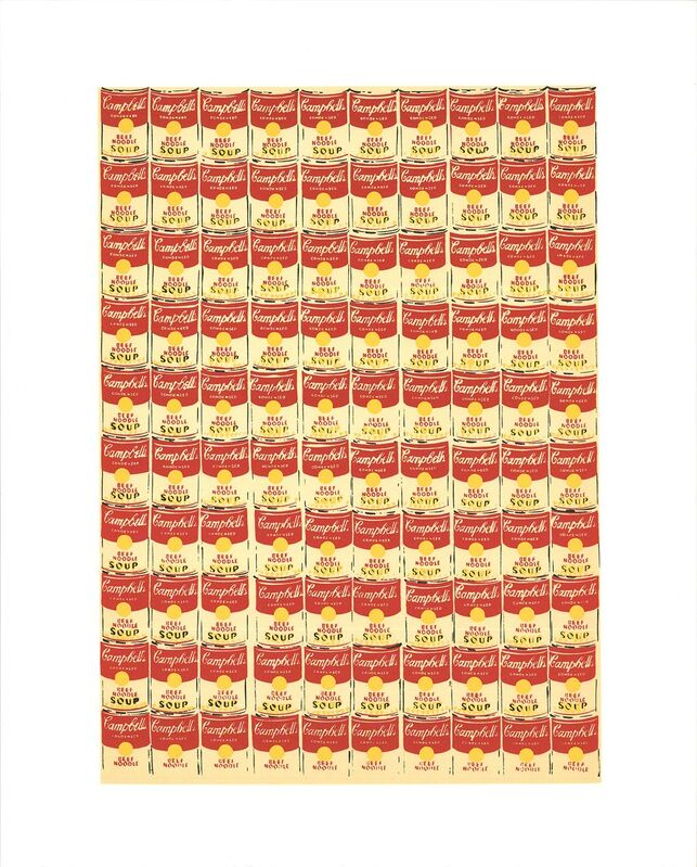 Andy Warhol, '100 Cans', 1991, Reproduction, Silkscreen, ArtWise