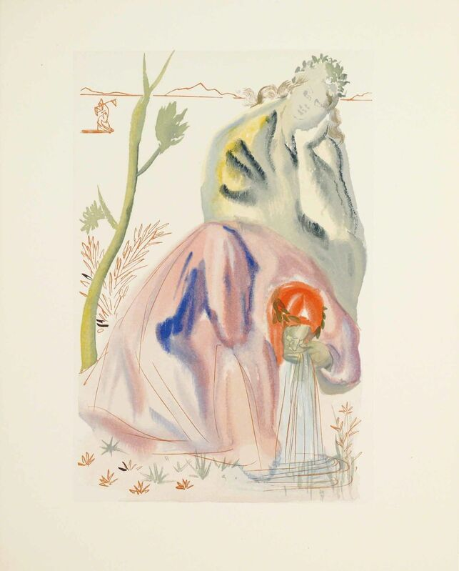 Salvador Dalí, 'Purgatory Canto 22 (The Divine Comedy)', Print, Wood engraving, Martin Lawrence Galleries