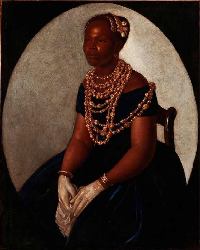 'Baiana', 1850, Painting, Oil on cotton, Instituto Tomie Ohtake