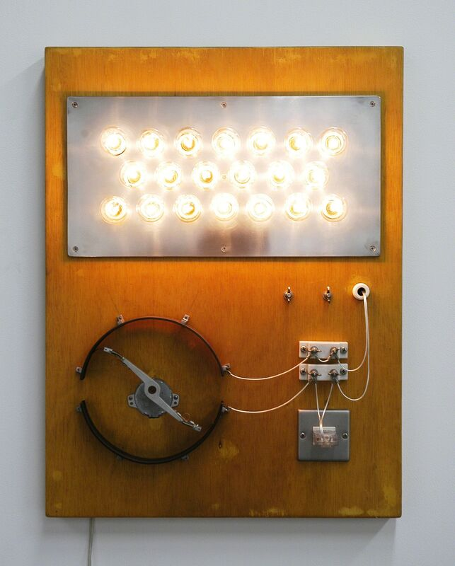 Satoru Tamura, 'Point of Contact for 20 incandescent lamps', 2007, Sculpture, Incandescent lamps, moters,wood, metal and others, Tezukayama Gallery