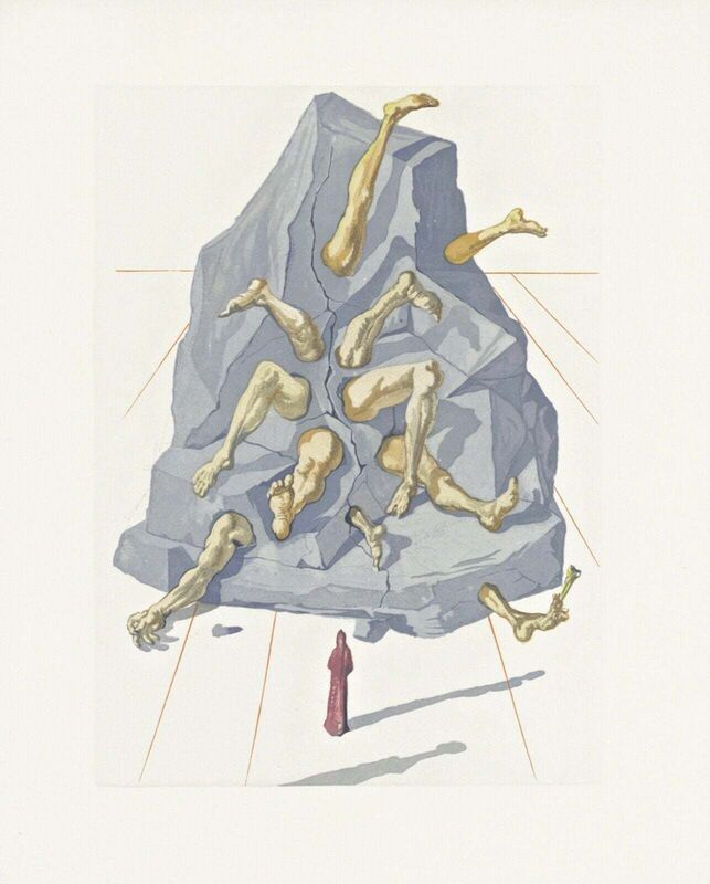 Salvador Dalí, 'Hell Canto #21, The Divine Comedy (Field 199)', 1959-1964, Print, Engraving on BFK Rives paper, Art Commerce