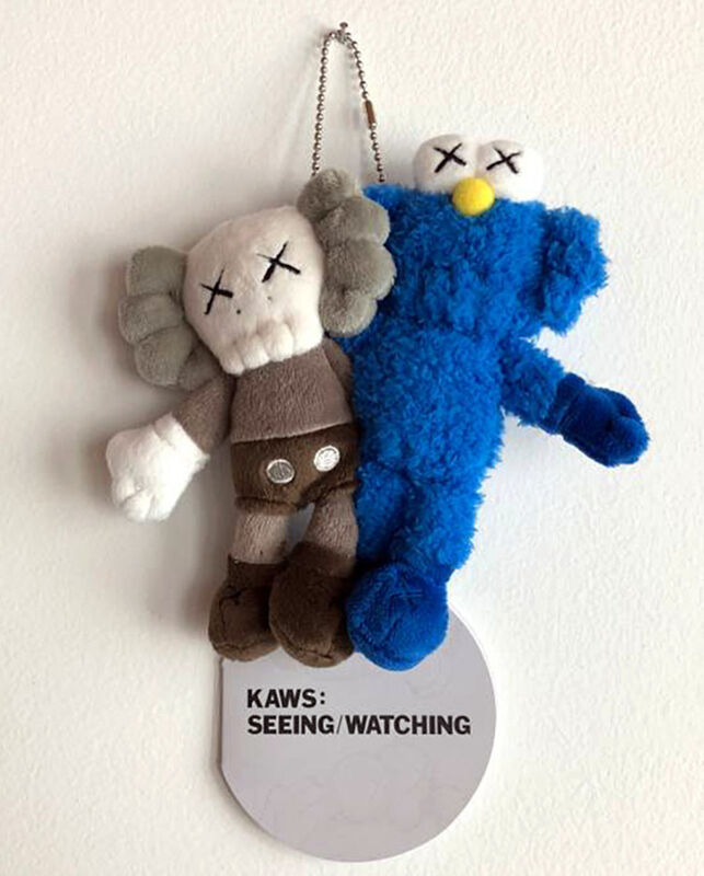 KAWS, 'KAWS Seeing/Watching keychain (KAWS plush)', 2018, Sculpture, Plush figurine affixed to keychain, Lot 180