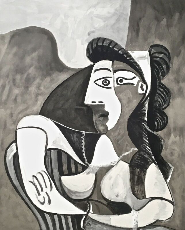 Pablo Picasso, 'Femme Accoudee au Fauteuil', 1982, Reproduction, Lithograph on Arches paper, Art Commerce