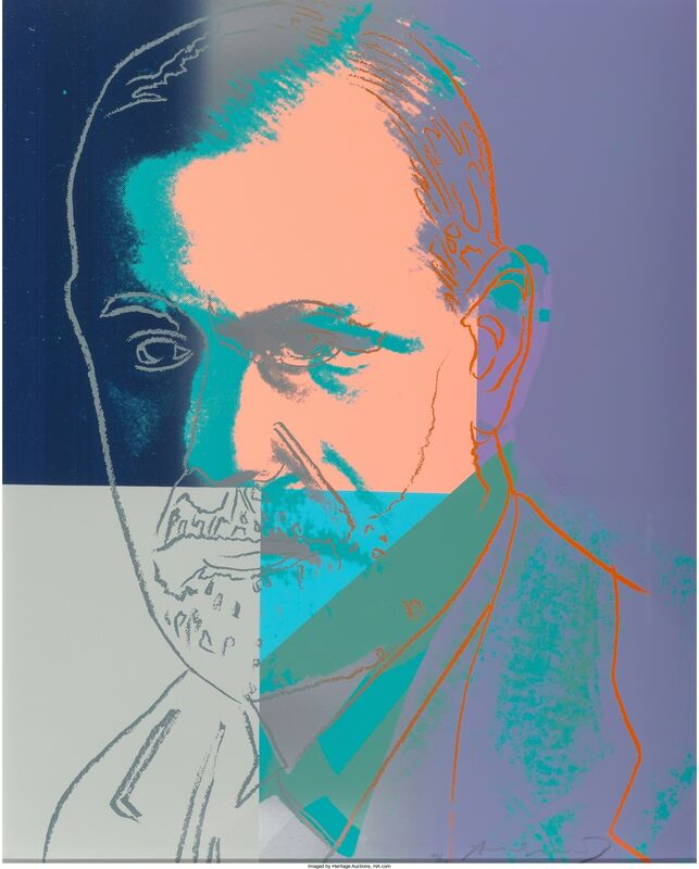Andy Warhol, 'Sigmund Freud, from the portfolio Ten Portraits of Jews of the Twentieth Century', 1980, Print, Screenprint in colors on Lenox Museum Board, Heritage Auctions
