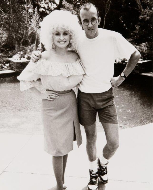 Andy Warhol, 'Keith Haring and Dolly Parton', 1985, Photography, Gelatin silver print, Hedges Projects