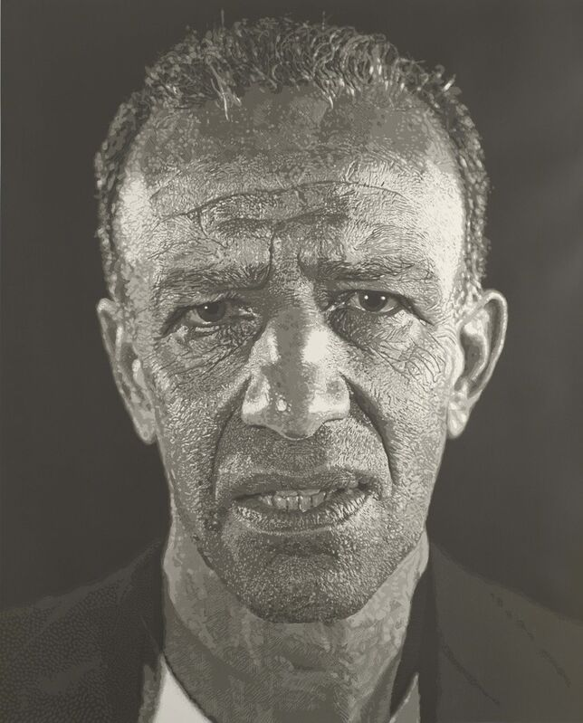 Chuck Close, 'Alex/Reduction Print', 1993, Print, Screenprint from reduction linoleum cut on paper, Colby College Museum of Art