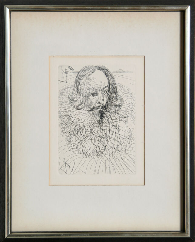 Salvador Dalí, 'Cervantes', circa 1968, Print, Etching, signed in the plate, RoGallery