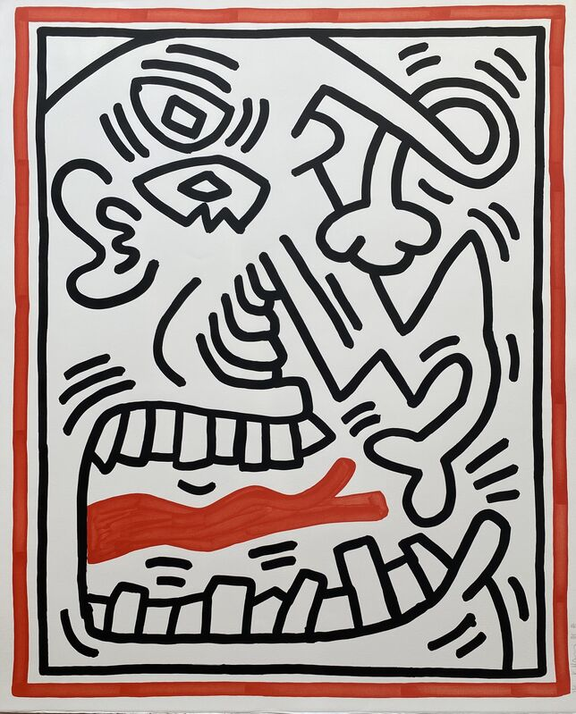 Keith Haring, 'Untitled , from Three Lithographs (Red Tongue)', 1985, Print, Lithograph in colors on Rives BFK paper, Fine Art Mia